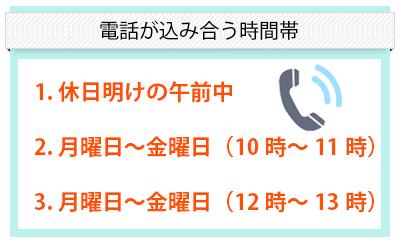 電話が混み合う時間帯